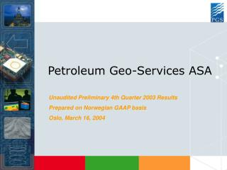 Petroleum Geo-Services ASA