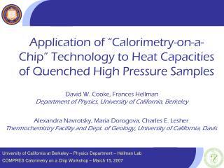 University of California at Berkeley – Physics Department – Hellman Lab