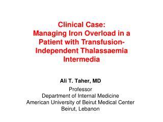 Ali T. Taher, MD