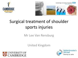 Surgical treatment of shoulder sports injuries