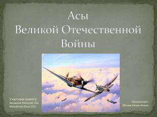 Асы Великой Отечественной Войны