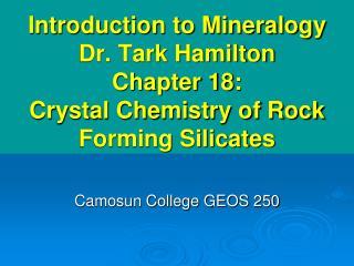 Camosun College GEOS 250