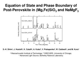 Equation of State and Phase Boundary of Post-Perovskite in (Mg,Fe)SiO 3  and NaMgF 3