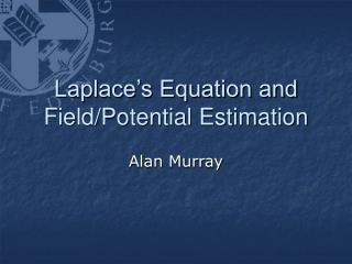 Laplace s Equation and Field