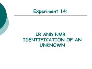Experiment 14: