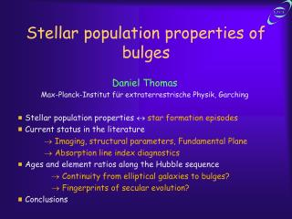Stellar population properties of bulges