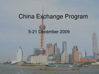 China Exchange Program