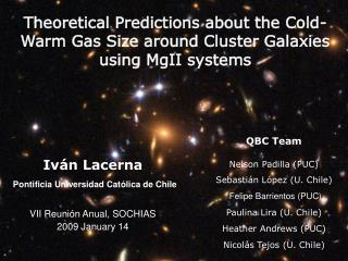 Theoretical Predictions about the Cold-Warm Gas Size around Cluster Galaxies using MgII systems