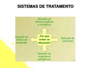 SISTEMAS DE TRATAMENTO