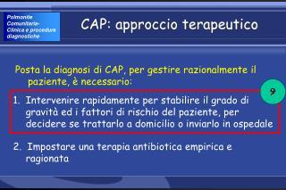CAP: approccio terapeutico