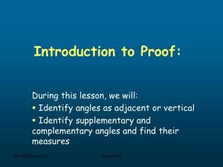 Introduction to Proof: