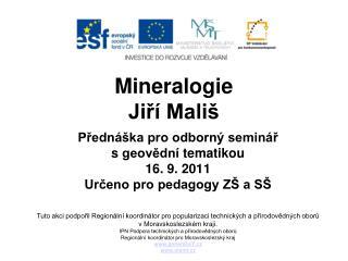 Mineralogie Ji?� Mali�