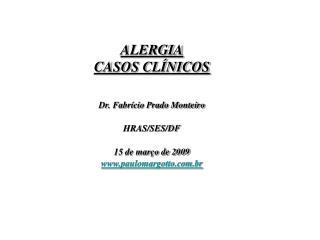 ALERGIA CASOS CLÍNICOS