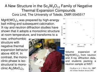 Gindhart et al.  J. Mater. Res.  2007 ACA Etter Student Award 2007