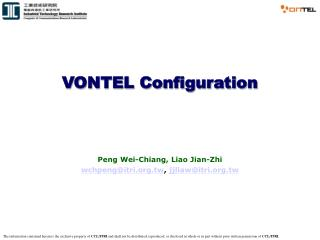 VONTEL Configuration