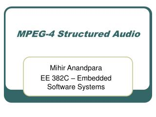 MPEG-4 Structured Audio