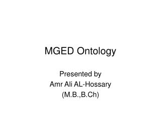 MGED Ontology