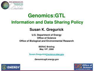 Genomics:GTL  Information and Data Sharing Policy