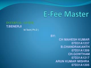 E-Fee Master