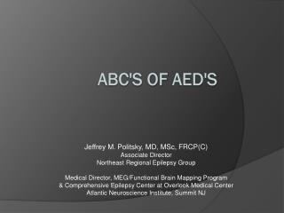 ABC'S of  AED's