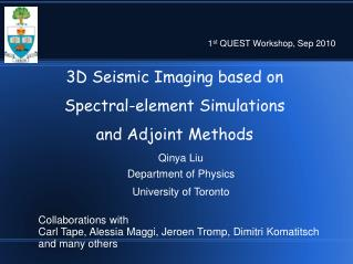 3D Seismic Imaging based on  Spectral-element Simulations  and Adjoint Methods