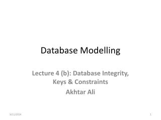 Database Modelling