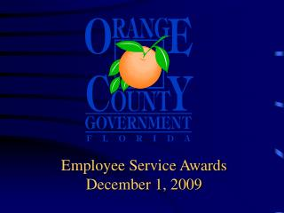 Employee Service Awards December 1, 2009