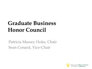 Graduate Business Honor Council