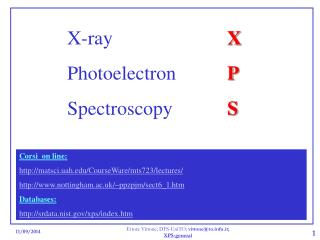 X-ray 				 X Photoelectron		 P Spectroscopy		 S