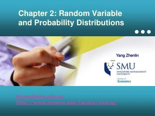 Chapter 2: Random Variable and Probability Distributions