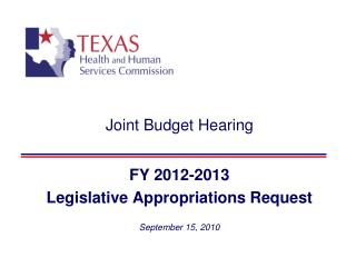 Joint Budget Hearing