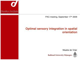 Optimal sensory integration in spatial orientation
