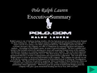 Polo Ralph Lauren Executive Summary