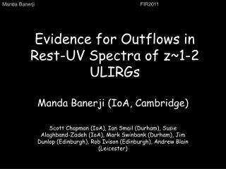 Evidence for Outflows in Rest-UV Spectra of z~1-2 ULIRGs