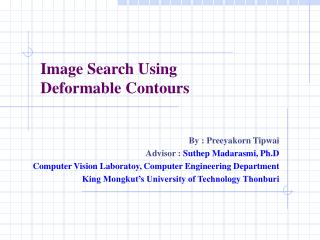 Image Search Using  Deformable Contours