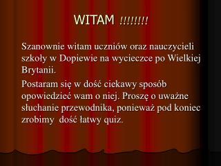 WITAM  !!!!!!!!