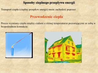 Sposoby cieplnego przepływu energii