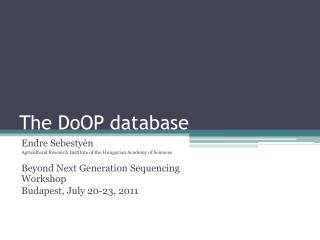The DoOP database