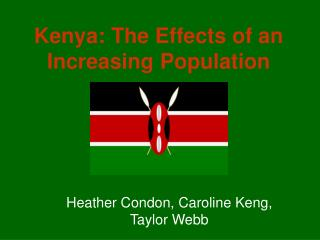 Kenya: The Effects of an Increasing Population