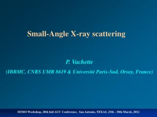 Small-Angle X-ray scattering