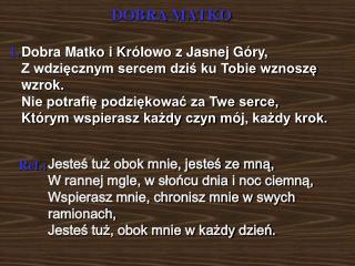 DOBRA MATKO