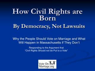 How Civil Rights are Born