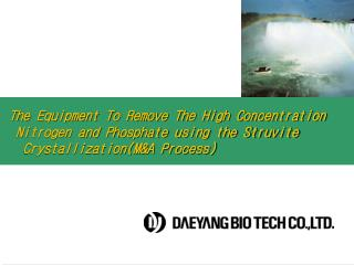 The Equipment To Remove The High Concentration      Nitrogen and Phosphate using the Struvite