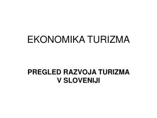 EKONOMIKA TURIZMA