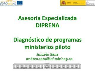 Asesoria Especializada  DIPRENA Diagnóstico de programas ministerios piloto