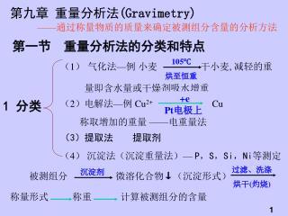 第九章 重量分析法 (Gravimetry)
