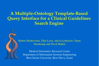 A Multiple-Ontology Template-Based Query Interface for a Clinical Guidelines Search Engine