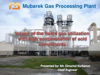 Mubarek Gas Processing Plant