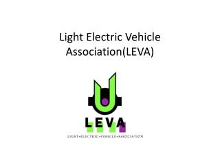 Introduction to The Light Electric Vehicle Association ...