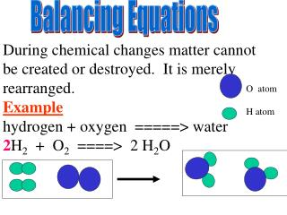 During chemical changes matter cannot be created or destroyed.  It is merely rearranged.   Example
